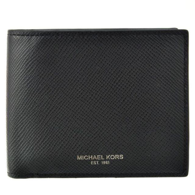マイケル マイケル コース MICHAEL MICHAEL KORS サイフ さいふ メンズ 二つ折り財布 型押しカーフスキン 39F5LHRF3L 0001 001