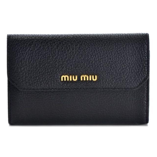 ミュウミュウ MIU MIU 2017年春夏新作  二つ折り財布 5ML225 2EW8 002