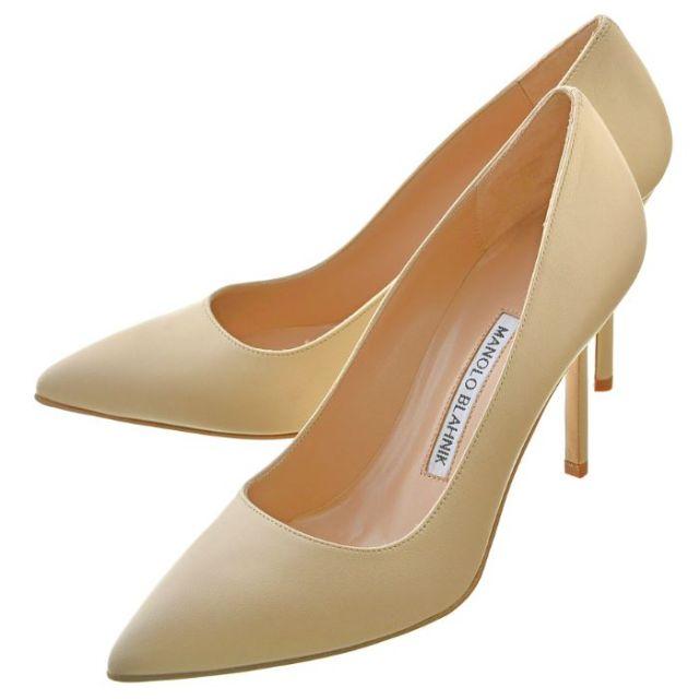 マノロブラニク MANOLO BLAHNIK 靴 パンプス ナッパレザー BB90 0001 067