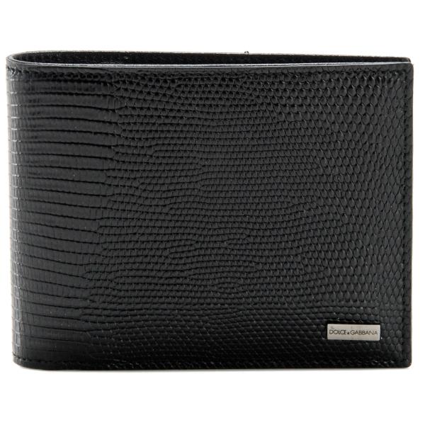 DOLCE&GABBANA/ドルチェ&ガッバーナ  型押しカーフスキン メンズ 二つ折り財布 BP0457 A1095 80999