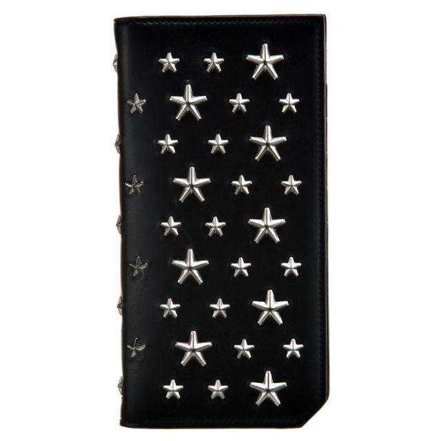 ジミーチュウ JIMMY CHOO サイフ さいふ メンズ 二つ折り長財布 BIKER LEATHER WITH STARS COOPER BLS 0050