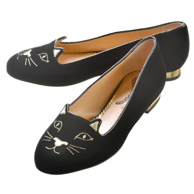 シャーロットオリンピア CHARLOTTE OLYMPIA 靴 パンプス KITTY FLATS E001139 VMC 0002