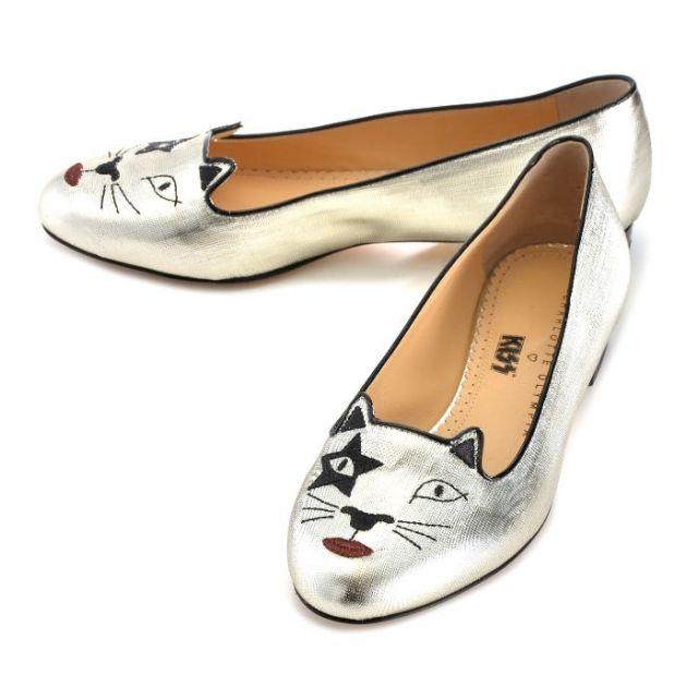 シャーロットオリンピア CHARLOTTE OLYMPIA 靴 パンプス KITTY FLATS V009309 LAM 0040