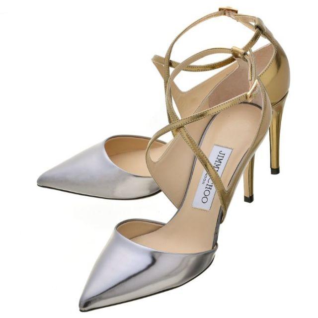 ジミーチュウ JIMMY CHOO 靴 パンプス ミラーレザー VIRGINIA85 ILM 0135