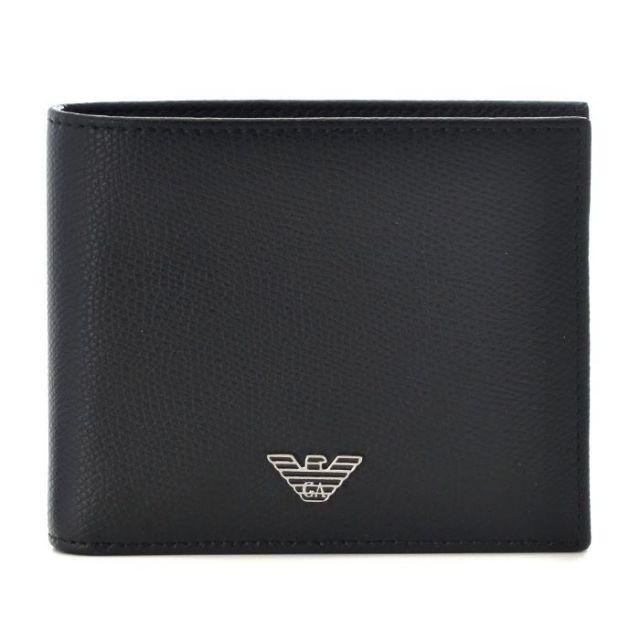 エンポリオ アルマーニ EMPORIO ARMANI サイフ さいふ メンズ 二つ折り財布 型押しカーフスキン YEM122 YAQ2E 81072