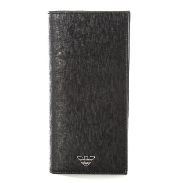 エンポリオ アルマーニ EMPORIO ARMANI カーフスキン メンズ 二つ折り財布 YEM474 YC91E 80001
