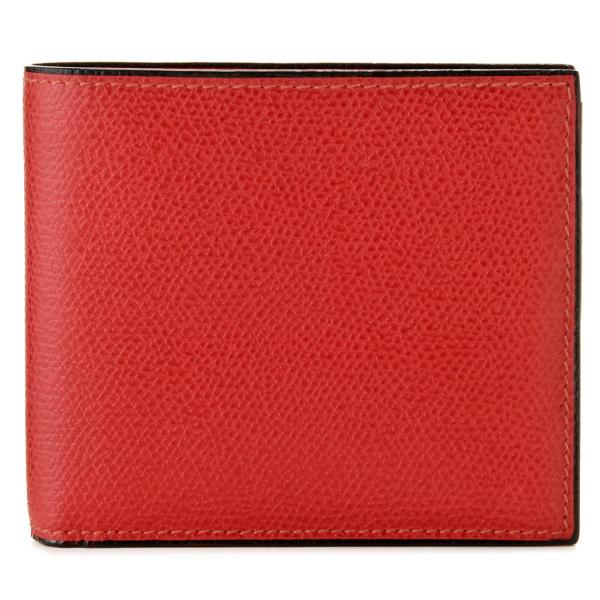 【送料無料】ヴァレクストラ VALEXTRA カーフスキン 二つ折り財布 V8L04 028 00RB