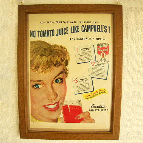 LIFEアドフレーム Campbell's TOMATO JUICE ac0278