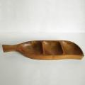 ac0251ウッドトレーえんどう豆型*amber designビンテージ北欧中古家具アンティーク雑貨通販アンバーデザイン