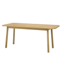 ソファに合う低めダイニングテーブル オーク無垢