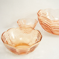 tw0287フランス製ピンクガラスボウル*amber designビンテージ北欧中古家具アンティーク雑貨通販アンバーデザイン