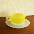 フランス製アンティークarcopalスープカップ