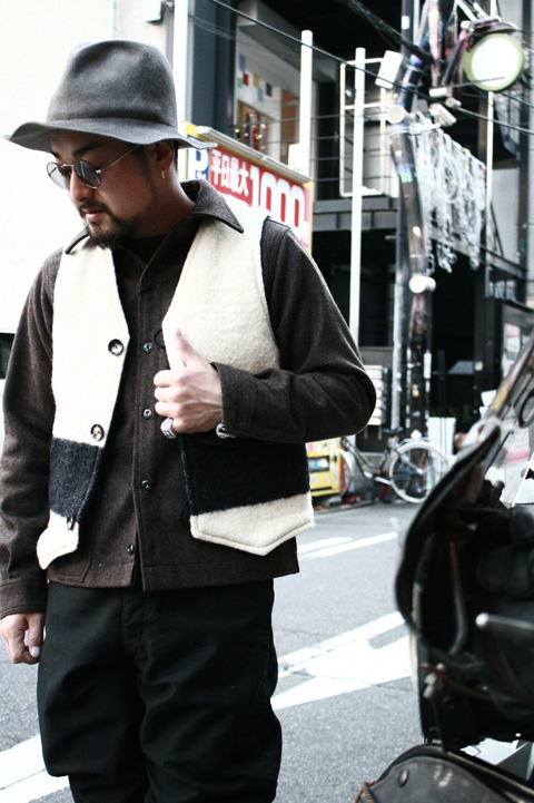 "BLACK SIGN/ブラックサイン  「Vintage ""Three Point""The Indian Trade Blankets Dene Vest」   ディネベスト"