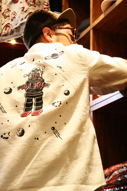 WEIRDO/ウィアード   「R ROBOT - L/S SHIRTS」  ロボット刺繍L/Sシャツ