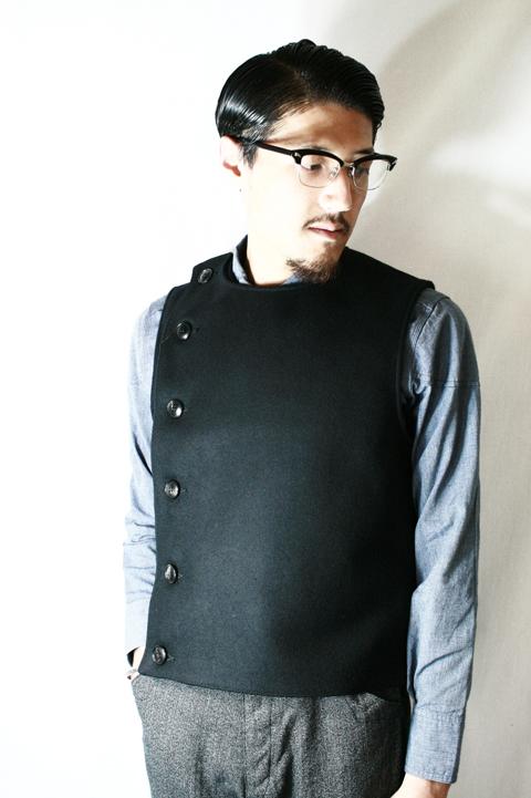 BLACK SIGN/ブラックサイン  「Heavy Melton Swindler Vest」   メルトンスウィンダラーベスト