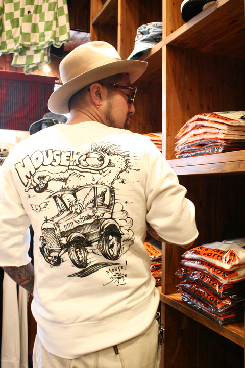 WEIRDO/ウィアード   「MOUSE HOT ROD - S/S SWEAT」   STANLEY MOUSE アートスウェット