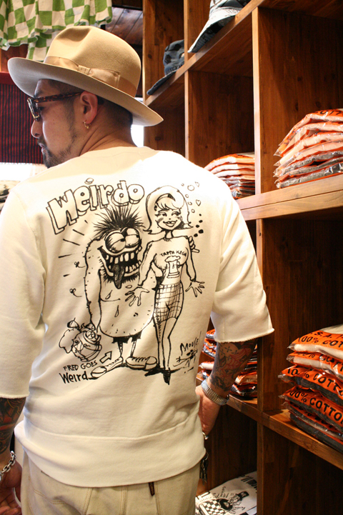 WEIRDO/ウィアード   「MOUSE WEIRDO - S/S SWEAT」   STANLEY MOUSE アートスウェット