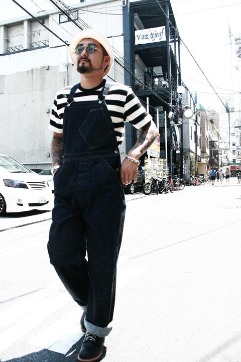 TROPHY CLOTHING/トロフィークロージング  「Authentic Denim Overalls」 インディゴローバックオーバーオール