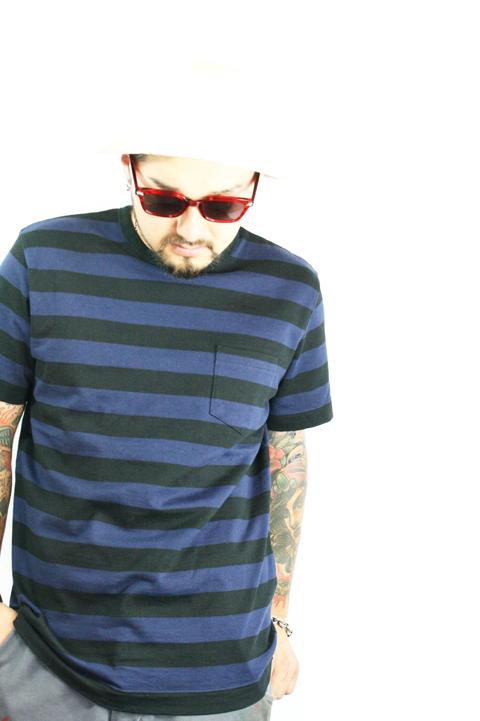 TROPHY CLOTHING/トロフィークロージング  「Mid Border Tee」  ミッドボーダーティーシャツ WH×BK/NV×BK