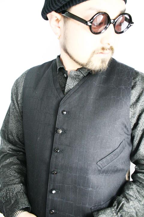 BLACK SIGN/ブラックサイン   「Crocodile Jacquard Antique Vest」   クロコダイルジャガードアンティークベスト