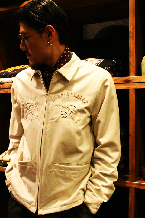 GANGSTERVILLE×BOUNTY HUNTER    「127% BxG - JACKET」   クロスボーンスカルスーベニアジャケット