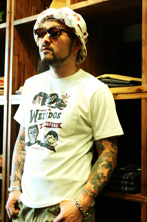 WEIRDO   「MONSTERS」   S/S TEE