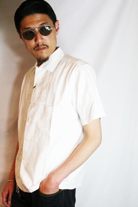 BLACK SIGN/ブラックサイン  「Paisley Jacquard Panel Chest Shirt」 ペイズリーパネルチェストシャツ