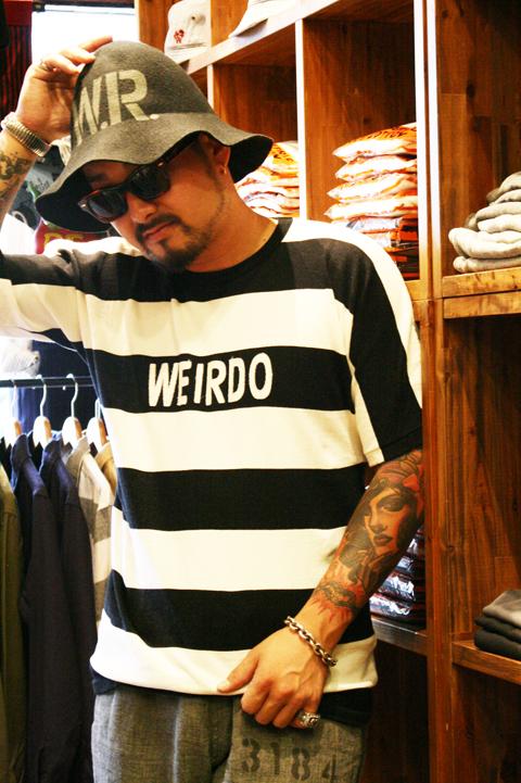 WEIRDO/ウィアード   「WEIRDOLMAN - S/S CREW SWEAT」   オリジナルボーダークルースウェット