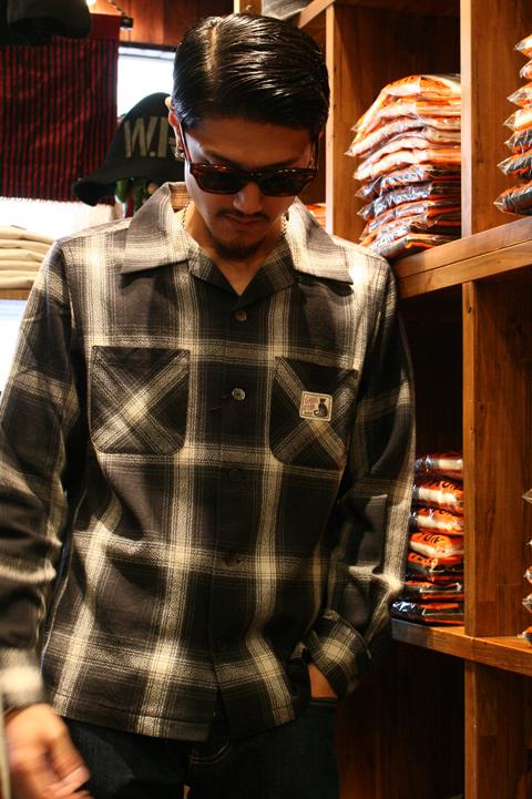 GANGSTERVILLE/ギャングスタービル   「RAMBLE - L/S  SHIRTS」  オンブレーチェックシャツ