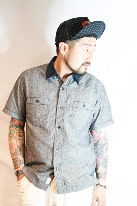 TROPHY CLOTHING/トロフィークロージング  「Gas Worker Shirts」  ネップワークシャツ