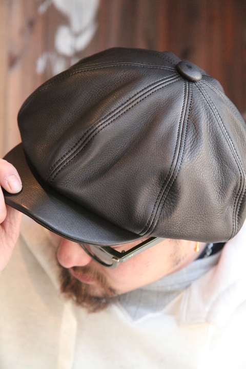 BLACK SIGN/ブラックサイン  「Leather Casquette Type2」  レザーキャスケット