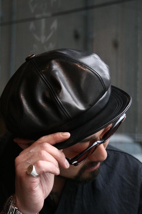 BLACK SIGN/ブラックサイン  「Leather Casquette」  レザーキャスケット