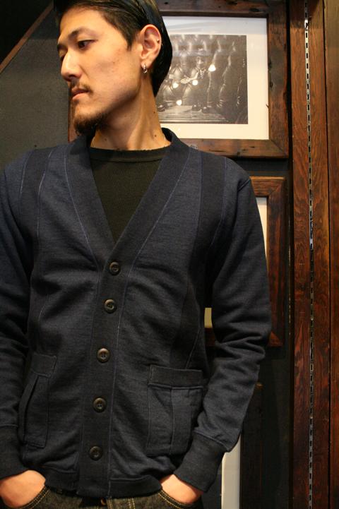 TROPHY CLOTHING/トロフィークロージング  「Jockey Cardigan」 インディゴ染めスウェットカーディガン