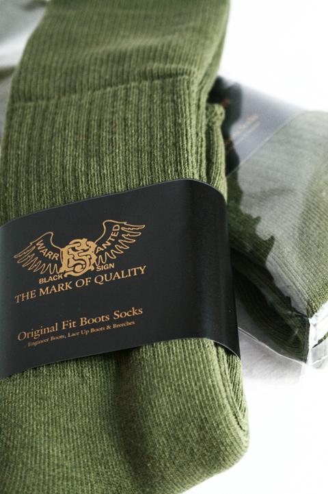 BLACK SIGN/ブラックサイン  「Original Fit Boots Socks」  ブーツソックス