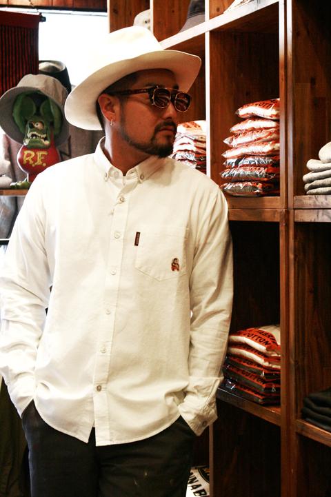 WEIRDO/ウィアード   「JOLLY - L/S SHIRTS」  オックスフォードボタンダウンシャツ