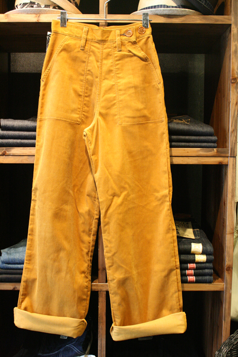 QUEEN BEE  「Q.B 40'S WORK PANTS DENIM」  40'S コーデュロイワークパンツNON WASH