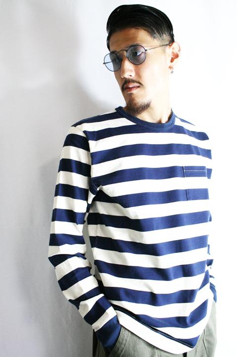 TROPHY CLOTHING/トロフィークロージング  「Mid Border Long Tee」  ミッドボーダーロングティーシャツ