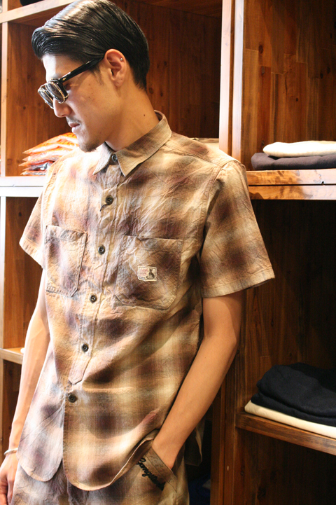 GANGSTERVILLE/ギャングスタービル   「MOJO CHECK - SHIRTS」  オンブレーチェックシャツ