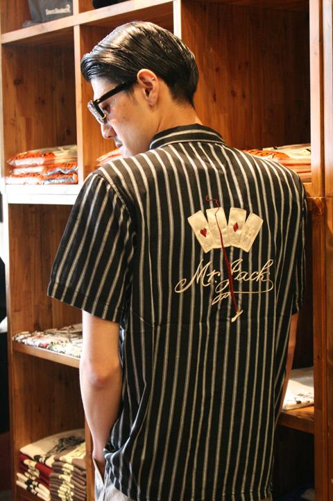 GANGSTERVILLE/ギャングスタービル   「GAMBLER - SHIRTS」  ストライプツイルシャツ