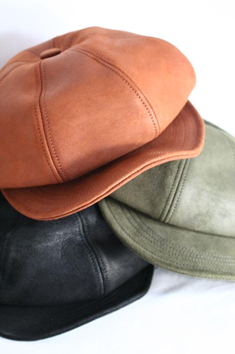 BLACK SIGN/ブラックサイン  「Horse Rough Out Leather Casquette」  ラフアウトレザーキャスケット