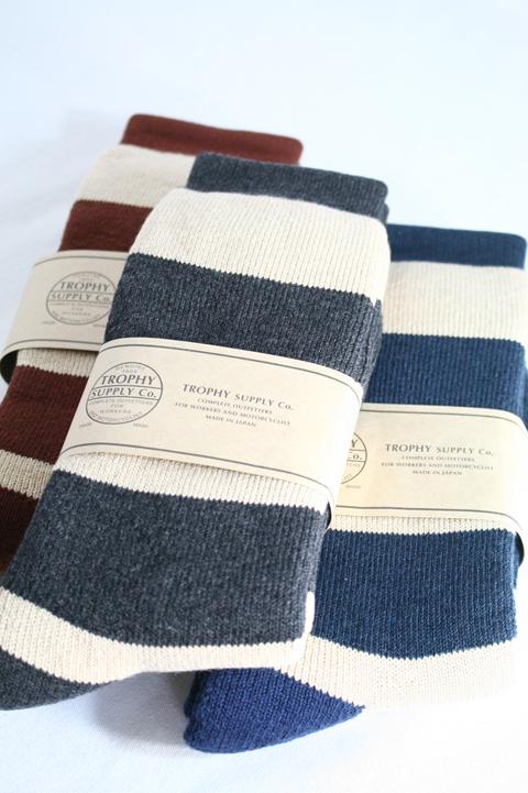TROPHY CLOTHING/トロフィークロージング   「Border Boots Socks」  ボーダーブーツソックス