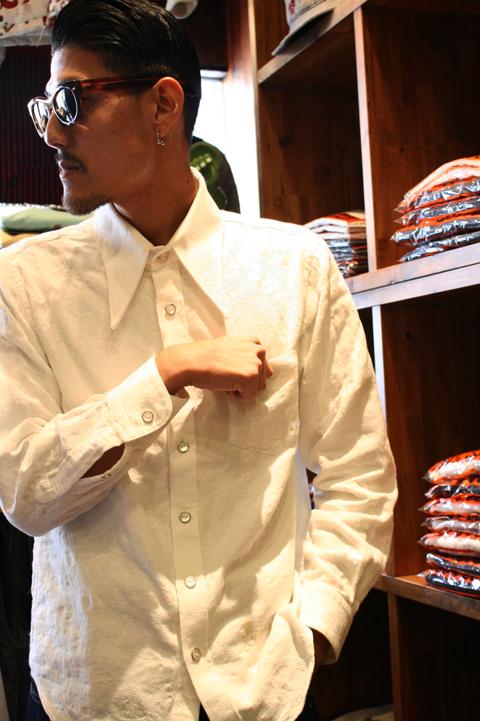 GANGSTERVILLE/ギャングスタービル   「G HOTEL - L/S SHIRTS」   コットンペイズリーシャツ