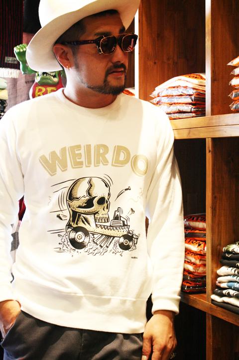 WEIRDO/ウィアード   「ZOWEIRDOS - SWEAT」   オリジナル裏毛クルースウェット