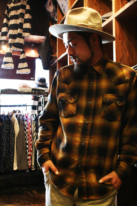 Sadistic Bear   「OMBRE CHECK WESTERN SHIRTS」  オンブレーチェック ウエスタンシャツ