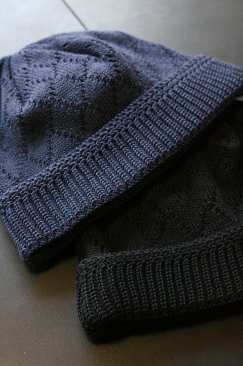 BLACK SIGN/ブラックサイン   「Rhombus Check Knit Cap」   ランバスチェックニットキャップ
