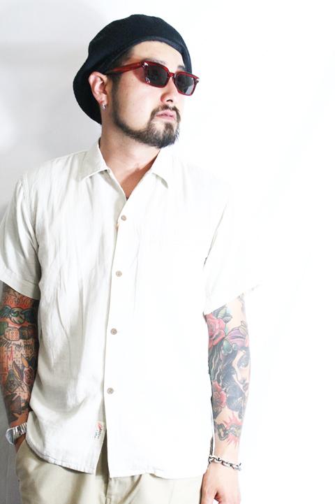 TROPHY CLOTHING/トロフィークロージング  「Sun Rise Washer Shirts」  ガーゼショートスリーブシャツ