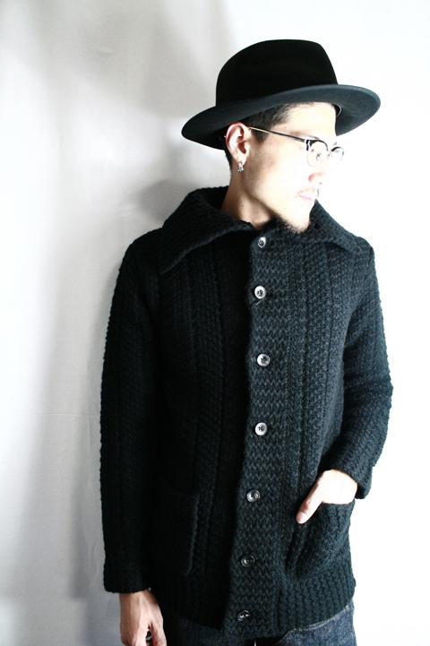 BLACK SIGN/ブラックサイン   「Byron Collar Intricate Wave Cardigan」  イントリケイトウェーブカーディカン