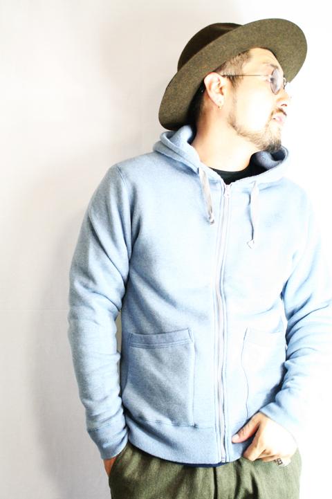 TROPHY CLOTHING/トロフィークロージング  「Overdye Hoodie」  ジップアップフーディー
