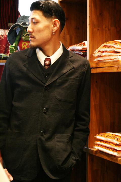 GANGSTERVILLE/ギャングスタービル  「BLUESY - JACKET」  ドビーストライプジャケット