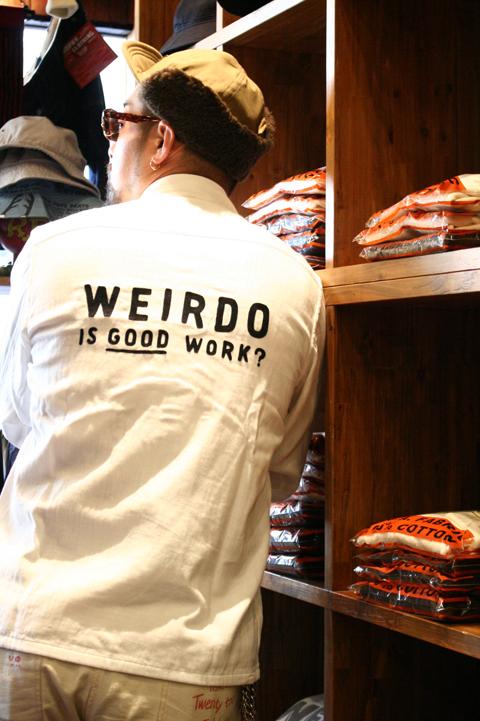 WEIRDO/ウィアード   「WTCC - L/S SHIRTS」  ヘリンボーンガーゼシャツ